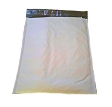 50 8.5x12 Large Poly Bubble Mailer Uneekmailers Plastic White Double Bub... - $19.98