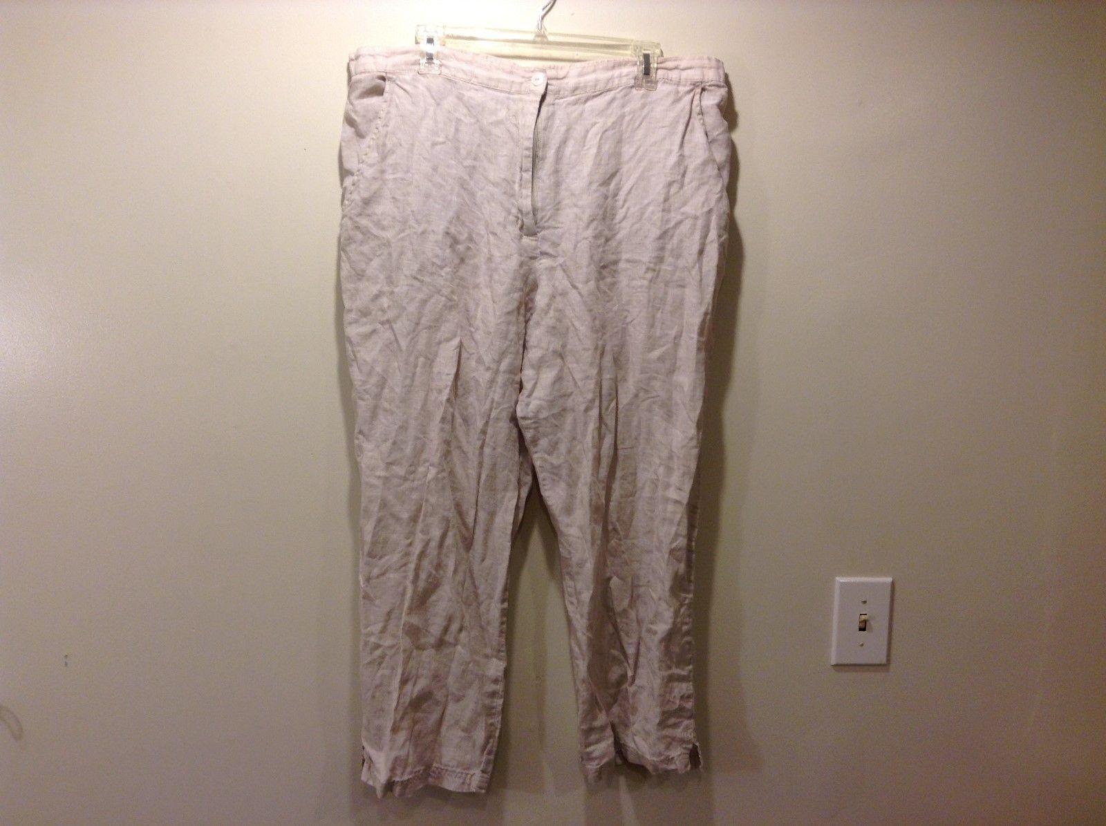 Karen Kane 1X 100% Linen Pants