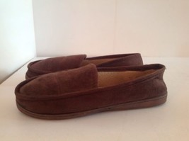 Dockers Brown Slippers Faux Suede Moc Faux Slip On House Shoes Mens M 8-9 - $24.18