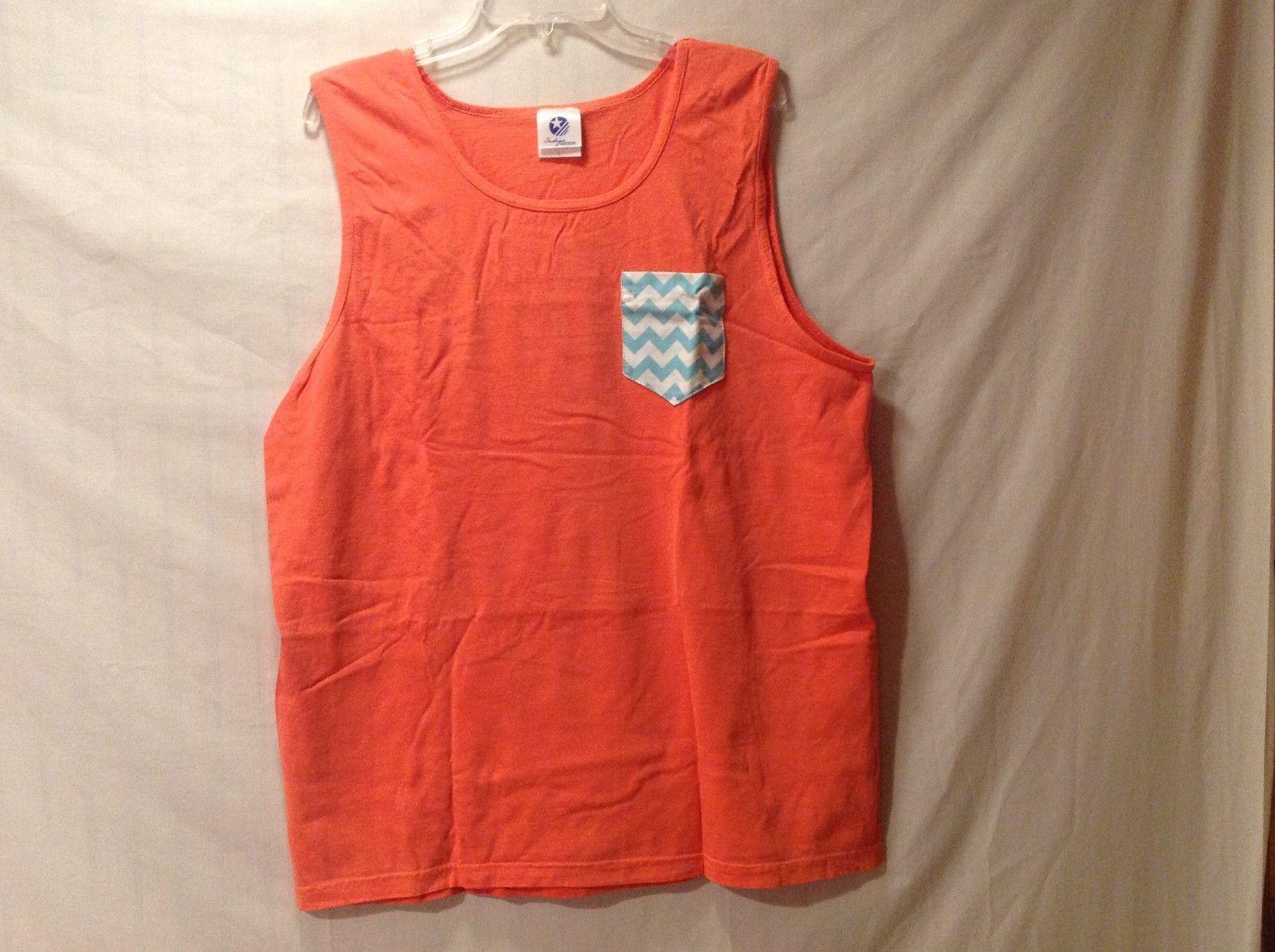 Indigo Cotton Sherbert Orange T-shirt Sleeveless Tank Size Large