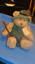 plush Bears From The Past Russ Berrie Montana-Green Corduroy Outfit-Plai... - $12.99