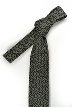 Black and ivory dots japanese motifs necktie - $60.00