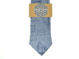 Blue boats tie - Wedding Mens Tie Skinny Necktie - Laid-Back necktie- na... - $60.00