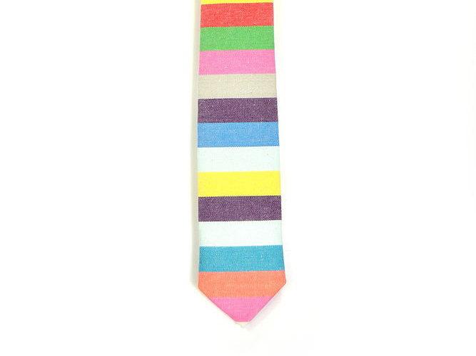 Wedding Mens Tie Skinny Necktie striped , men tie color- colorful tie, purple ti image 2