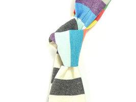 Wedding Mens Tie Skinny Necktie striped , men tie color- colorful tie, purple ti image 4