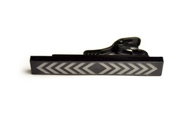 Black Tie Bar engraved arrows square ends - $32.00