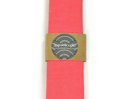 Bright Coral  necktie - coral tie, Wedding Mens Tie Skinny Necktie - Laid-Back n image 2