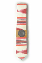 Red oarange and ivory ikat tie - Wedding Mens Tie Skinny Necktie - Laid-... - $60.00