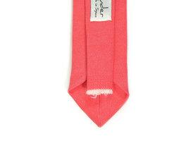 Bright Coral  necktie - coral tie, Wedding Mens Tie Skinny Necktie - Laid-Back n image 3