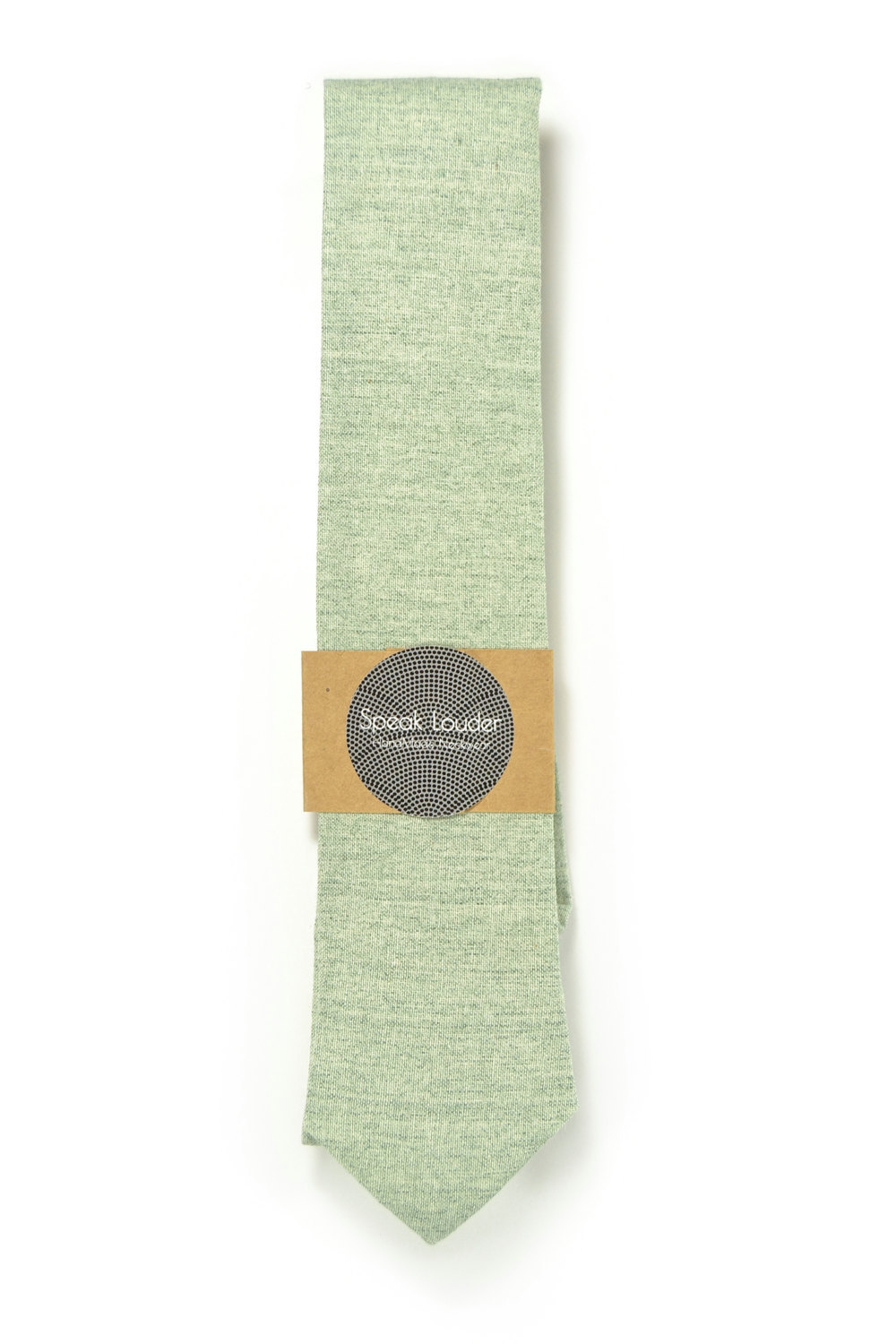Wedding Mens Tie Skinny Necktie blush green- Laid-Back necktie- Green Japanese f