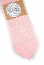 Wedding Mens Tie Skinny Necktie John Waters- Laid-Back necktie- Pink Japanese fa image 2