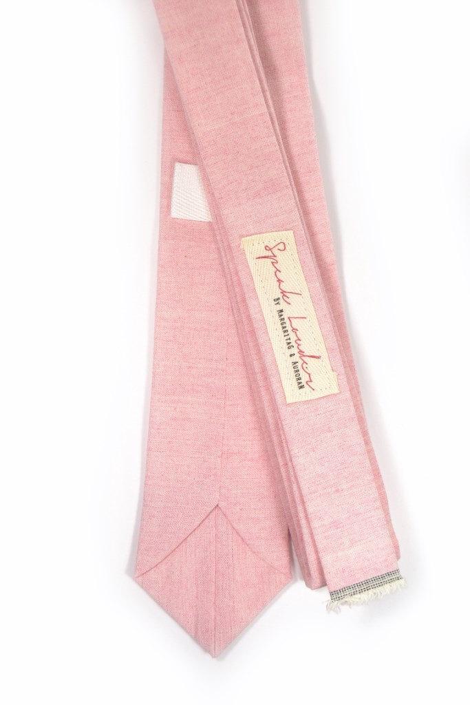 Wedding Mens Tie Skinny Necktie John Waters- Laid-Back necktie- Pink Japanese fa image 3