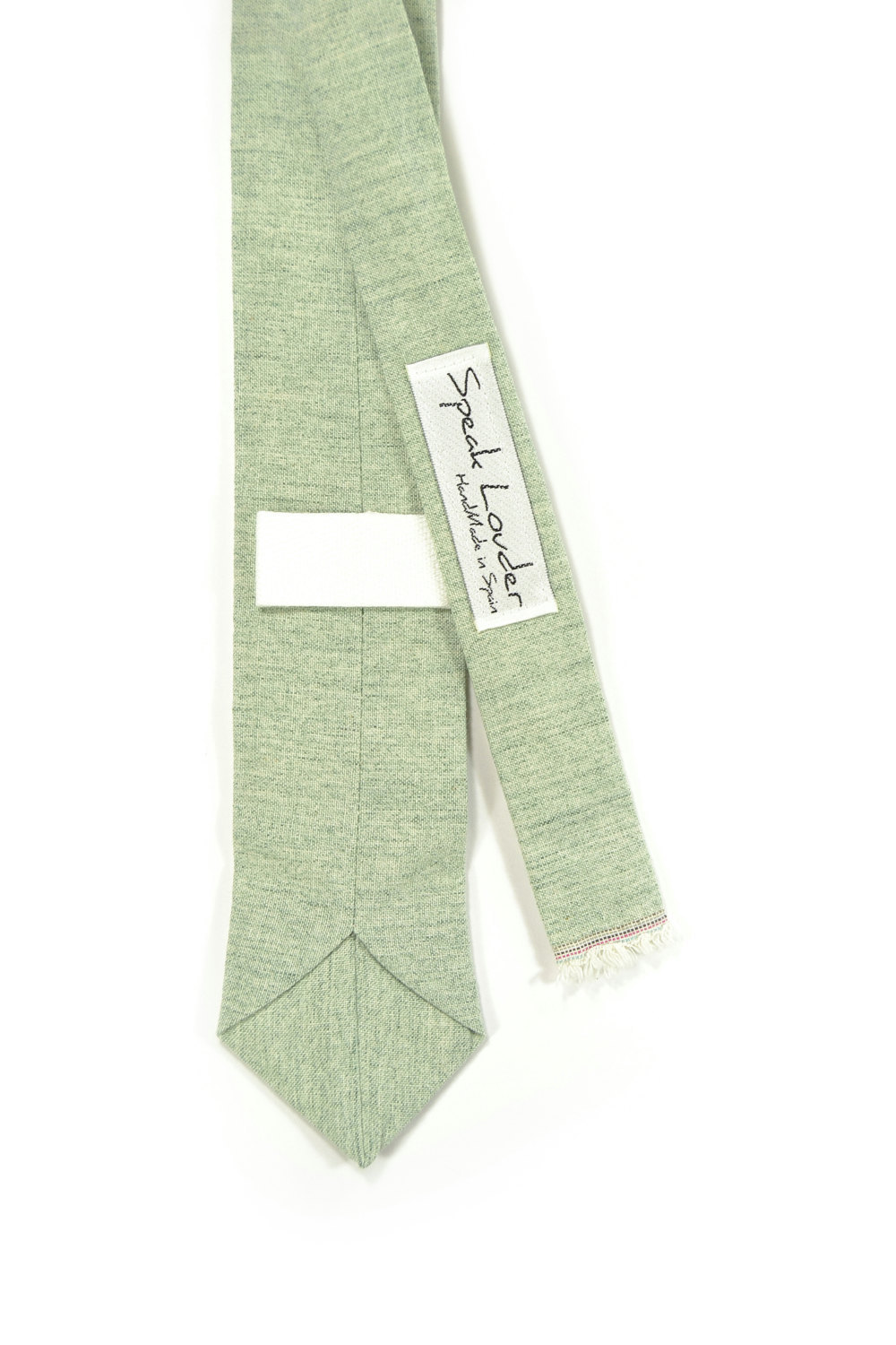 Wedding Mens Tie Skinny Necktie blush green- Laid-Back necktie- Green Japanese f image 3
