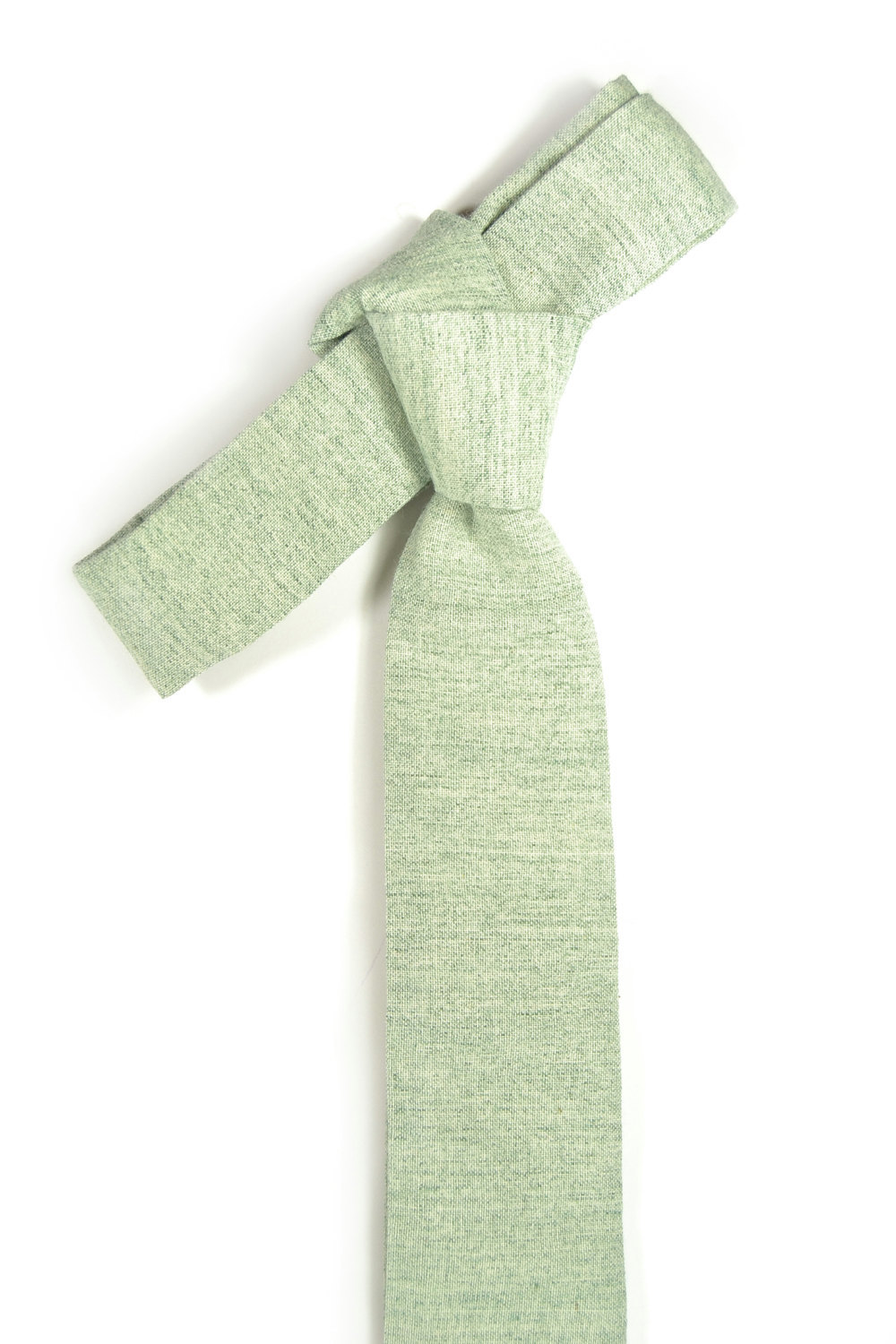 Wedding Mens Tie Skinny Necktie blush green- Laid-Back necktie- Green Japanese f image 5