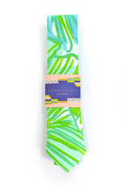Green jungle tropic necktie - Wedding Mens Tie Skinny TROPICAL TIE Laid-... - $60.00