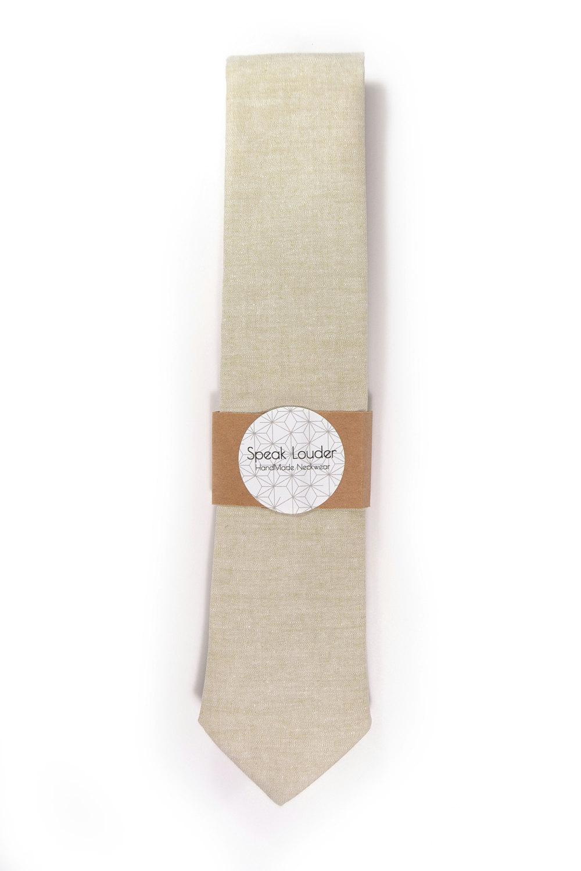 Khaki chambray necktie - Wedding Mens Tie Skinny Necktie Joseph Heller - Laid-Ba