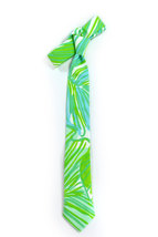 Green jungle tropic necktie - Wedding Mens Tie Skinny TROPICAL TIE Laid-Back nec image 3