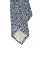Mens Necktie blue herringbone Wool tie image 3