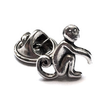 Silver Monkey Accessory, Mens Tie Tack OR Unise... - $11.99