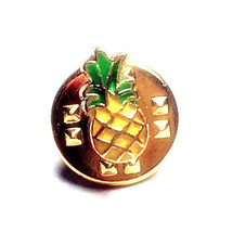 Tiny Pineapple Tie Tack / Unisex Pin, Golden An... - $9.99