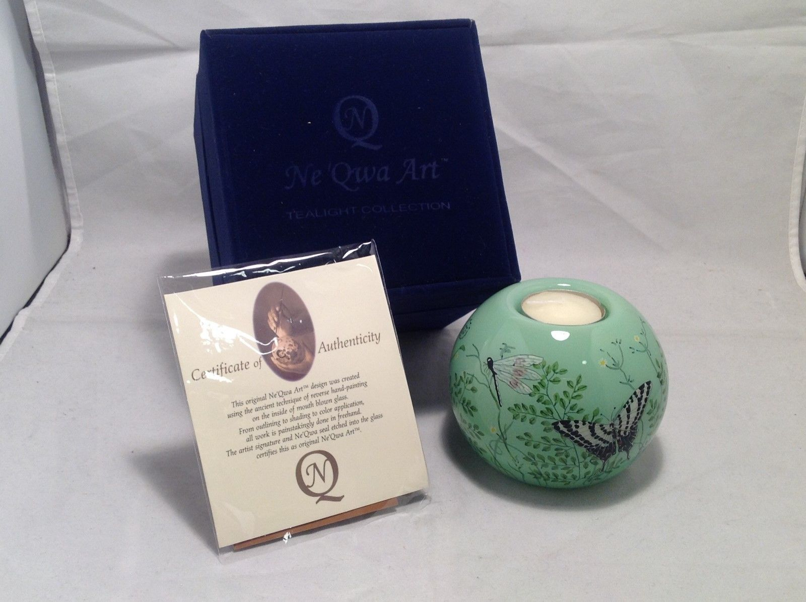 New In Box Ne Qwa Art Garden Bugs Tealight Collection by Paul Brent