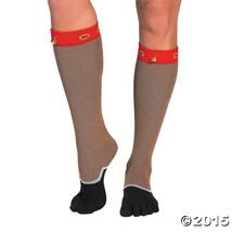 Reindeer Christmas Toe Socks - 1 Pair - $8.54