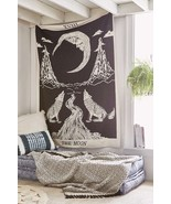 "Magical Thinking Moon Tarot Crying Wolf Tapestry 55""x85"" - $24.99"