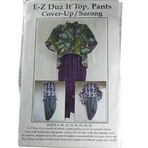 E-Z Duz Itpattern-Cnt Motivo Co Dimensioni 8-22-Top-Pants-Cover-Up-Sarong - $23.46
