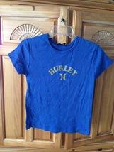 girls blue short sleeve top size medium by Hurley Girlie - $20.00