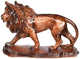 UG Collectible Prowling Faux Wood Lion Model Figure Figurine Statue - $15.78