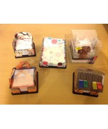 NEW 5 Piece Lot Assorted 12 Sticky Notes Dispensers Dog Theme Utah Delic... - $29.69