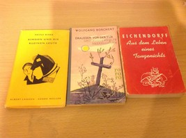 3 Piece Lot German Books ca. 1940's, 1950's, Vintage