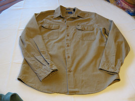 Mens Nautica cotton L Athletic Fit long sleeve button up shirt casual EUC@ - $44.54
