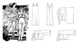 Folkwear Greek Island Dress Tunic Jacket #266 Sewing Pattern Only - folkwear266 - $19.95