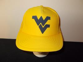 VTG-1980s West Virginia Mountaineers football mesh trucker snapback hat ... - $27.83