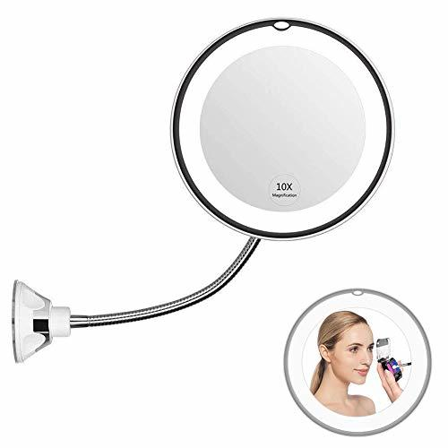 Warmsheep Flexible Gooseneck Magnifying Mirror With Light