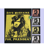 XS-XL Women's Dave Mustaine For President T-Shirt classic fit black brow... - $15.50