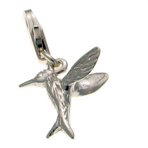 Sterling 925 British Silver Clip On Charm Hovering Love Bird by Welded B... - $17.40