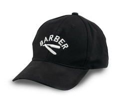 Barber Razor Logo Embroidered Flexfit Baseball Hat - $12.16