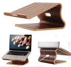 SamDi Walnut Wooden Laptop Cooling Stand Holder Dock Tray for Macbook Air  - $68.12 CAD