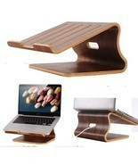 SamDi Walnut Wooden Laptop Cooling Stand Holder Dock Tray for Macbook Air  - ₨3,368.98 INR