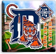 Detroit Tigers Comerica Stadium Double Light Switch Wall Plate Cover Boys Room - $14.99