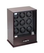 Diplomat Nine (9) Watch Winders w/ Storage for 10 Watches - Ebony Wood F... - $692.99