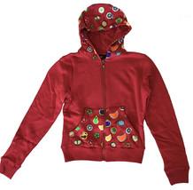 UGP Caramelle Donna Corto Marrone Rosso Fruttato Yummy Goodies Zip Felpa Nwt