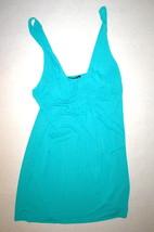 NWT New Designer Natori Night Gown Chemise Off White Aqua Blue M Short W... - $107.25
