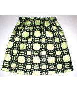 New Womens 2 NWT Italy Designer Marni Skirt 38 Yellow Black Polka Dots Knee - $499.60