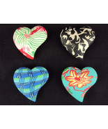 Comfort Clay Handcrafted Pocket Heart Charms ~ Choice of 4 Styles/Patter... - $7.95