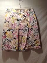 Lands' End 100% Cotton Floral Patterned Skirt Size 10