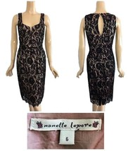 Nanette Lepore Black Lace Over Pink & Green Iridescent Lining 6 - $114.94 CAD