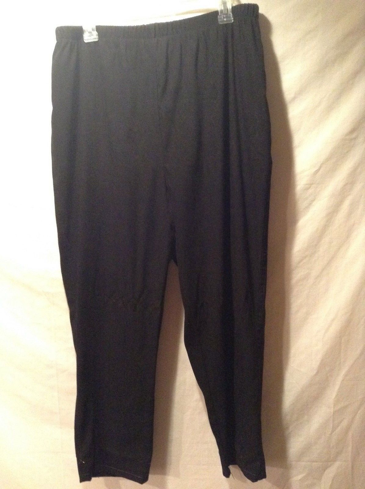 Ladies Denim & Co. Black Velvet Sweatpants